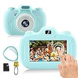 RAYROW Kinderkamera, 1080P HD Video Digitalkamera für Kinder, Unterstützt WiFi & Touchscreen, 3,0 Zoll IPS HD, Jungen Alter 3-12 (Blau)