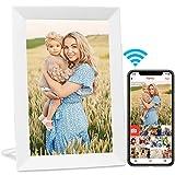 AEEZO WiFi Digitaler Bilderrahmen 9 Zoll IPS Touchscreen, Automatische Drehung, Einfache Einrichtung zur Gemeinsamen Nutzung von Fotos und Videos, Wandmontierbarer Digitaler Bilderrahmen (weiß)