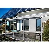Home Deluxe - Terrassenüberdachung weiß - Maße: 618 x 303 x 226/278 cm - Inkl. komplettem Zubehör | Wintergartendach Verandaüberdachung V