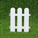 WXQIANG Packung mit 10 x-Panel Rasen, Restholz, Kunststoff Gras Rasen Blumenbeet Dekorative Zäune, Innenaußenterrasse, 17x20cm, Weiss