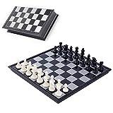 Schachspiel Magnetischem,Einklappbar Schachbrett Schach,Wooden Chess Set,Schachspiel Magnetisch Klappbar,Schach Magnetisch Holz ,Reise Faltbarem Schachbrett,Schachspiel Holz Hochwertig