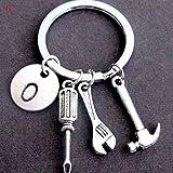 DAD Buchstaben Schlüsselanhänger Kreative Hammer Schraubendreher Schraubenschlüssel Schlüsselring Handtasche Dekor Quaste Hängende Anhänger Vatertagsgeschenke