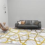 Teppich Waschbar In Waschmaschine Wohnzimmerteppich Goldgraues modernes minimalistisches geometrisches Grafikdesign Teppich Vintage 60x90cm