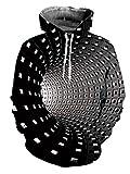 AIDEAONE Herren Wolf Kapuzenpullover Lange Ärmel Pullover Kapuzenpullover Sweatshirts 3D Druck Grafik Hoodies Tasche Fleece Plüschfutter