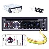 Hikity 1 Din Autoradio DVD CD-Player Bluetooth-Audio System Auto FM Radio Empfänger, Freisprechen, USB-Schnellladung, MP3-Autoplayer mit AUX-in SD USB Eingangsanschluss + Kabellos Fernbedienung
