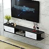 Wandbehang TV-Schrank,Schwimmendes TV-StäNder-Komponentenregal mit 2 Schubladen, Schwimmende Unterhaltungseinheit im Wohnzimmer, BüRo, Schlafzimmer/B / 150cm