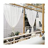 Sonnensegel Sichtschutznetz, Pavillon Gaze, Datenschutzblock, Verdickungsmaterial wasserdicht Zerreißen Zum Terrasse Deck Zelt, Anpassbar LJAINW (Color : White, Size : 1.4x2.5m)