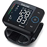 Beurer BC 54 Handgelenk-Blutdruckmessgerät mit App-Anbindung, Inflation-Technology, farbigem Risiko-Indikator und Arrhythmie-Erkennung, für Handgelenksumfänge von 13,5 - 21,5 cm, Medizinprodukt