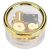 Hilitand Musik-Box, Acryl, rund, transparent, mechanisch, leicht, für Kinder, Musik, Geschenk zum Geburtstag (8 Melodien) (Swan Lake)