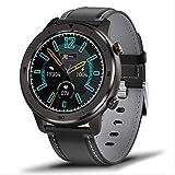 Wasserdichte Smartwatch für Herren, Herzfrequenz- und Blutdruckmessung, vollständiger Touchscreen, Musiksteuerung, Sport, Smartwatch, Gürtelband, Schwarz