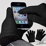 yayago Touchscreen Handschuhe Schwarz Universalgröße (ca. S – M) – für ZTE Blade L110