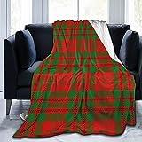 Allures Schottischer Clan Livingstone Tartan Plaid Überwurfdecke, Sherpa Decke, gemütliche Bettdecke für Familienfest, Geschenk, Fleecedecke, warme Sofadecke, 203,2 x 152,4 cm