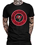 Kansas-City Chiefs vs. Tampa-Bay Buccaneers Playoffs American Football NFL Super Bowl 55 Bucs Herren Männer T-Shirt | Schwarz | L