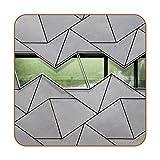 6 Stück Untersetzer Getränkeuntersetzer Super wasserdicht oder beschädigt, geeignet für alle Tassen 10,2 cm Farbige Untersetzer Fassade
