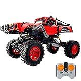 Bybo Technik Geländewagen Bausteine mit motoren und licht, 1333 Teile Ferngesteuert Technik Off-Roader Konstruktionsspielzeug Kompatibel mit Lego