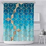 RLXDPP Wasserdicht Easy Care Stoff Hotel Qualität Duschvorhang Verstärkt Knopflöcher Für Badezimmer Duschen Stände Badewannen Maschinenwaschbar-G1 180x180cm(71 * 71inch)(120gsm)