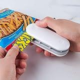 Folienschweißgerät, Mini Bag Sealer, Mini Hand-Folienschweißgerät, Mini Folienschweißgerät Tüten Verschweißer, 2 in 1 Tüten luftdicht Verschließen, Batteriebetrieben