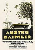 Kunstdruck Austro Daimler Österreich Wiener Neustadt F Zwickl Plakat Braunbeck Motor A3 288