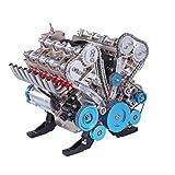 V8 Motor Bausatz, 1: 3 V8 Engine, 8 Zylinder Metall Auto Motor - über 500 Teile - Simulation Motor mit Funktionsfähiges, Engine Kit für Auto Fans, Kinder & Erwachsene