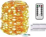 LED Foto Lichterkette 10M 100er Led Lichterkette mit 50 Stücke Klammern für Fotos,8 Modi LED Fotoclips Lichterkette Benutzt für Wohnzimmer,Weihnachten,Hochzeiten,Party