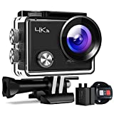Action Kamera A77, 4K 16MP Wi-Fi Wasserdicht 30M mit Fernbedienung Unterwasser-Digitalkamera, Hyperstabilisierungskamera, 170° Weitwinkelansicht mit 20 Zubehör