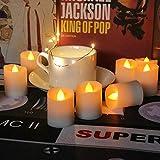 12pcs / Box Led Elektronische Kerzen Simulation Flammenleuchte Mit Fernbedienung Simulation Kerzenlichter Led Weihnachtssimulation Kerzenlampen Halloween Deko