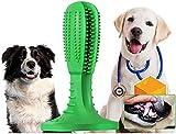 Hismo Hundezahnbürste, verbessertes Naturkautschuk, zum Bürsten, weich, Kauspielzeug für Hunde mit einem Gewicht von 20–45 kg, Zahnpflege, Medium.