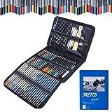 Buntstifte Zeichnen Bleistift Set,Aottom 71 Stück Art Set mit Aquarellstift, Graphitstift, Kohlestift zum Schreiben, Skizzieren und Zeichnen, Ideales Set mit Skizzenbuch