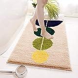 OHHCO Flocking Schlafzimmer Wohnzimmer Teppichboden Matten Einfache Haushaltsküche und Bad Türabsorbierende rutschfeste Bodenmatten 40 * 60,B