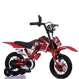Chenbz Outdoor-Sport for Kinder Fahrrad, erschütterungsdämpfende Offroad Motorrad, Stahl-Rahmen Mountainbike, Hilfsrad Stabilisatoren 12in / 14in / 16in / 18in, Rot, 12in (Color : Red, Size : 18in)