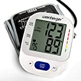 Weinberger 02273 Oberarm Blutdruckmessgerät großem Display, Speicher und Risiko-Indikator inkl. Tasche HL868VF, Großes, Gut Lesbares Display, weiß, 500 g