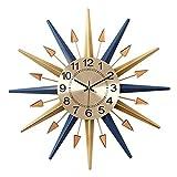 SHISEDECO Mid-Century Instruments Satelliten-Wanduhr aus Metall, Kristall, große Starburst-Dekoration für Zuhause, Küche, Wohnzimmer, Büro (klassisches Blau, 61 cm)
