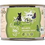 catz finefood Bio Katzenfutter Ente - N° 505 - Nassfutter für Katzen - 6 x 200 g - Ohne Getreide & zugesetzten Zucker (1,2 kg)