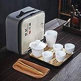 Keramik-Reise-Teeservice, tragbare Schnellpass-Tasse, eine Kanne, Vier Tassen Kung-Fu-Teeservice, individuelles Geschenks-Teeservice-Stil 5