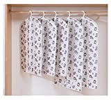 QXLG Staubschutzhaube Transparente Bedruckte Staubabdeckung Kleidung Hängende Taschen Home Anzug Mantel Staubabdeckung Lager Kleiderschrank Organizer 1pcs / Lot Kleidersack