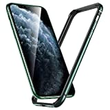 ESR Bumper Hülle kompatibel mit iPhone 11 Pro Max-Metallrahmen Schutz mit weichem inneren Bumper [Keine Signalstörungen] [Erhöhter Kantenschutz] für iPhone 11 Pro Max- Dunkelgrün
