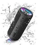 Ortizan Bluetooth Lautsprecher mit Licht, Tragbarer Bluetooth Box mit IPX7 Wasserschutz, Dualen Bass-Treibern, 30h Akku, Freisprechfunktion, Bluetooth Kabelloser Lautsprecher für Phone, O