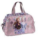 Ragusa-Trade Disney Frozen - Die Eiskönigin Anna und ELSA (Dog), Sporttasche Reisetasche für Mädchen, Rose/violett, 40 x 25 x 16 cm