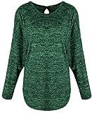 Emma & Giovanni - Pullover Mit offen zurück (Made In Italy) - Damen (Grün, S-M)