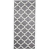 Carpeto Rugs Teppich Läufer Flur - Orientalisch Teppichläufer - Kurzflor, Weich - Flurläufer für Wohnzimmer, Schlafzimmer - Teppiche - Meterware - Grau - 70 x 150
