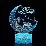 Sroomcla D Tischlampe Desktop 3D Tischlampe Desktop LED Ramadan Dekoration Licht 3D Tischlampe Desktop Awesome