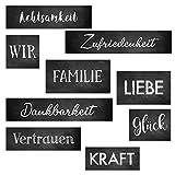 Logbuch-Verlag großes Deko Schilder Set - Wanddeko Bilder mit Worten zum Aufhängen - Geschenk Hochzeit Geburtstag Dekoration Wohnzimmer