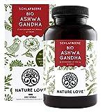 NATURE LOVE® Bio Ashwagandha - Hochdosiert mit 1950mg je Tagesdosis - 240 Kapseln - Hochwertige original indische Schlafbeere - Laborgeprüft, in Deutschland produziert