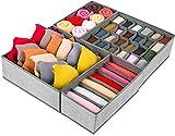 Thstheaven Schubladenorganizer, 4er-Set, faltbar, Unterwäsche-Organizer und Schrank-Trenner, faltbare Aufbewahrungsbox für Kleidung, Socken, Unterwäsche, BHs