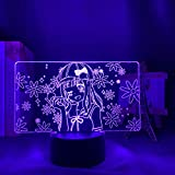 3D-Illusionslampe Led Nachtlicht Anime Kaguya Sama Liebe Ist Krieg Chika Fuji Wara Kinder Geburtstagsgeschenk Schlafzimmer Schreibtisch Zubehö