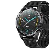GPS Sportuhr Ip68 wasserdichte Sportuhr Bluetooth Smart Watch, Activity Tracker Uhr Sport Mechanische Elektronische Uhr Herren (Color : Black 2)