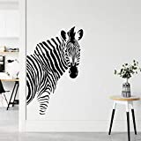 Opprxg Afrikanisches Tier Zebra Wandaufkleber Vinyl Wohnkultur Wohnzimmer Schlafzimmer Kinderzimmer Wandtattoo Wandbild Tapete 57x89cm