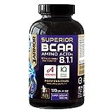 J.ARMOR Verzweigtkettige Aminosäuren bcaa Ergänzung 8.1.1 Kyowa Ajinomoto Vit. B6, Vegan, 120 Kapseln, 1000 mg