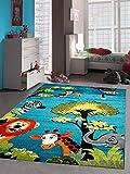 Traum Bunter Kinderzimmer Teppich Waldtiere Größe 160x230