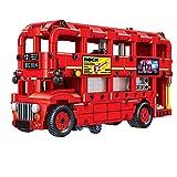 Qualimart 487pcs City Creator Doppeldeck-Bus Bausteine Technisch Rot Transport Bus Schule Auto Ziegel Spielzeug für Kinder (Farbe: ohne Box)